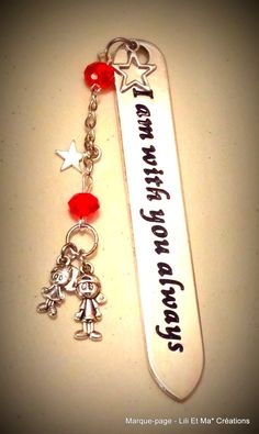 """Marque-pages, Lili et Ma* Créations """"I'am with you always"""" : Marque-pages par lili-et-ma-creations"""
