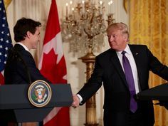 Prime Minister Justin Trudeau and U. President Donald Trump found common ground on boosting the economy, securing the border and empowering women business leaders. But the two leaders are at odds over immigration policies. Business Women, Business Leaders, Cabinet Minister, Immigration Policy, Common Ground, Justin Trudeau, Women Empowerment, Donald Trump, Presidents