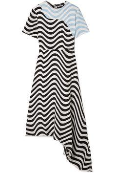 House of Holland | Asymmetric printed crepe midi dress | NET-A-PORTER.COM