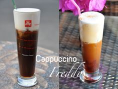 """Let's go for a coffee! Drinking coffee is a vital part of the Greek culture. It is not just about drinking """"a coffee"""", a whole ritual goes with it. Coffee Milkshake, Chocolate Milkshake, Chocolate Coffee, Coffee Drinks, Coffee Cups, Ice Cream Drinks, How To Order Coffee, Greek Recipes, Best Coffee"""
