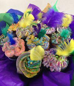 Cupcakes Bouquet MARDI GRASS!!!!