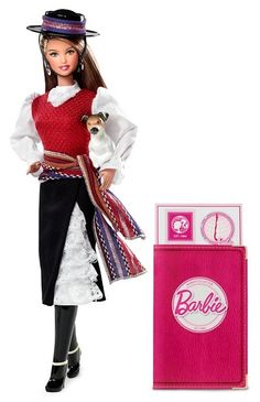 Dolls of the World 2012  CHILE  BARBIE® DOLLS OF THE WORLD® Chile BARBIE® Doll*: Barbie® doll is loved around the world, and the Dolls of the World® collection returns the love with Barbie® dressed in aspirational versions of ancestral dress from various countries. Chile Barbie® looks like the perfect cowgirl in the clothing of the huaso (Chilean cowboys).   $34.99  www.angelicdreamz...
