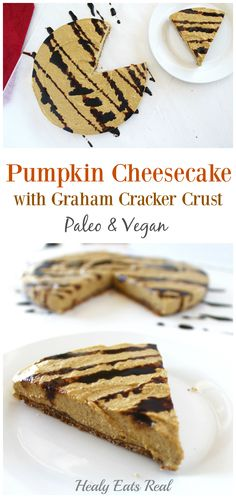 This paleo and vegan Pumpkin Cheesecake Recipe is such a yummy gluten free…