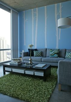 Love those windows, the rug, the clean lines