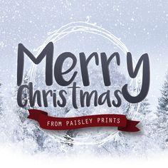 Merry Christmas from @paisleyprintsonline #christmas #holidaygreetings #stationarydesign #stationary