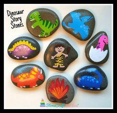 Dinosaur Set of Story Stones