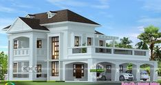 2724 square feet Colonial home design Colonial model 4 bedroom, 2724 square feet home design by Sthapathy Builders from Kannur, Kerala. Bungalow Haus Design, Duplex House Design, House Front Design, Flat Roof House, Facade House, Classic House Design, Modern House Design, House Plans Mansion, Dream House Plans