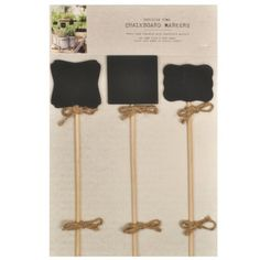 Sheffield Home Parisian Set of 3 Chalkboard Markers / Black Board Signs Home Office Collection