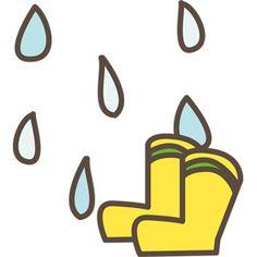 [フリーイラスト] 雨と長靴