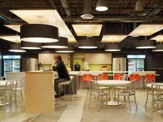 Skype's Palo Alto Headquarters- i love these overhead lights