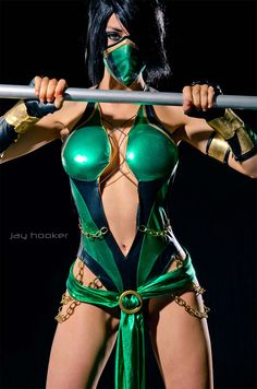 Kristen Hughey as Jade from Mortal Kombat Photograph by Jay Hooker Images