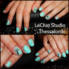 blossom...LeChat color #71 nail artist Maria Zebra