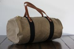 Once Was Lost - Handmade Waxed Canvas Weekend Duffle Bag - perfect gents travel accompaniment
