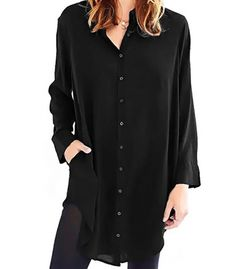 Maxi casual shirt Shirt Blouses, Casual Shirts, Coat, Long Sleeve, Sleeves, Jackets, Women, Fashion, Down Jackets