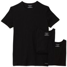 Emporio Armani  Emporio Armani Men's 3 Pack Cotton Crew Neck Tee    100% cotton  Machine Wash  Soft pure cotton jersey construction provides a comfortable and classic fit  Tagless product detail for additional comfort,stamped logo    Black, White