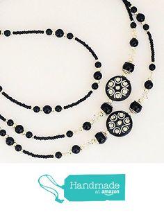 Beaded Lanyards, Black Sparkle, Id Holder, Swarovski Crystals, Badge, Amazon, Chain, Handmade, Jewelry