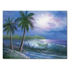 Moonlight in Key Largo Wall Art by Rio - MA0185-C3547GG