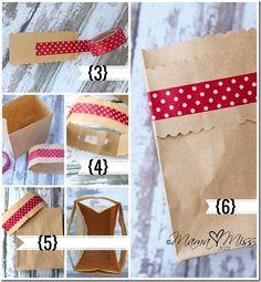bolsitas de papel madera para San Valentïn