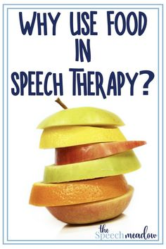 Food can be a power tool in speech therapy.  Here are the reasons why and some beginning considerations.  #speechtherapy #speechtherapyideas #thespeechmeadow #slp