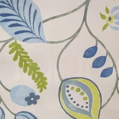 Blue & Green Fabrics | Prestigious (Furn) Zest Bluebell Curtain Fabric | C