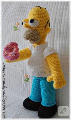 Amigurumi Askina Demet : Crochet Homer Simpson Littlebuddies4all dolls ...