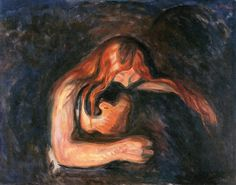 The Athenaeum - Vampire (Edvard Munch - ) 1916