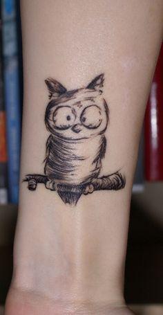 owl tattoo crisnascimento