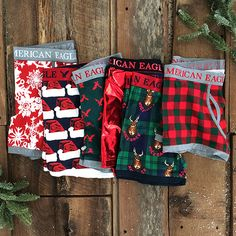 Get into the festive spirit with holiday-inspired trunks. Xmas Gifts For Him, Bf Gifts, Christmas Gifts For Boyfriend, Men's Undies, Boxers Underwear, Mens Christmas Underwear, American Eagle Underwear, Future Clothes, Birthday Gifts For Sister