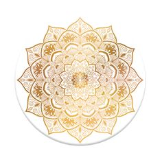 """Popsockets """"golden silence"""" design in the Good Vibes collection(gold mandala)"""