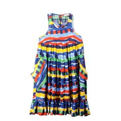 SM60Q-SIK25-POCO Multicolor Printed Flowy Dress