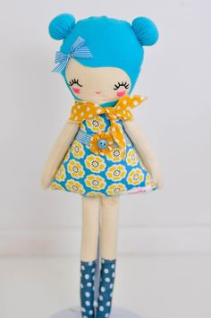 Love lulu doll, plush,softie handmade one of a kind