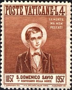 Centenary of the death of Saint Dominic Savio - issued March 21 1957