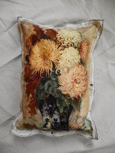 pillows: chrysanthemum painting