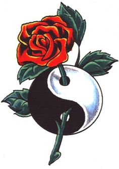 "Ying Yang Tattoo Design. Will say ""Virginia and Clarence were LOST on EARTH to be FOUND in our HEARTS"""