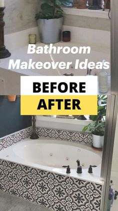 Diy Bathroom Remodel, Budget Bathroom, Simple Bathroom, Bathroom Renovations, Master Bathroom, Home Remodeling, Cheap Bathroom Makeover, Bathtub Makeover, Bathtub Remodel