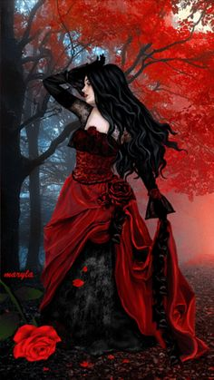 Dark And Beautiful Gothic Images, Fantasy Images, Fantasy Women, Dark Beauty, Beauty Art, Gothic Beauty, Beltane, Gothic Girls, Gothic Fantasy Art