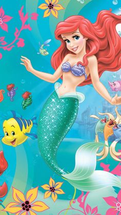 Ariel Wallpaper, Little Mermaid Wallpaper, Mermaid Wallpapers, Cute Disney Wallpaper, Wallpaper Iphone Disney, Cute Wallpapers, Disney Princess Pictures, Disney Princess Ariel, Mermaid Disney