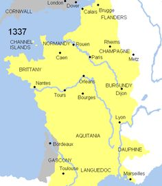 "(1337 - 1453) Hundred Year War (see photo link for dynamic image) between ""French and English monarchies. It was both a dynastic and a feudal struggle as the French kind, Philip VI (r. 1328 -50), sought to absorb the English duchy of Aquitaine... It was fought almost entirely in France, and is popularly remembered as the context of Joan of Arc."" (Lindberg, 31)"