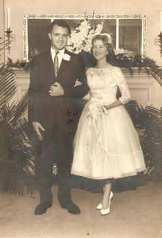 Wedding Day - June 8, 1960 (her dress looks very much like mom's).