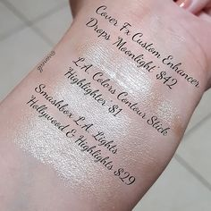 A comparison between the $1 LA colors highlighting stick,the Smashbox highlight, and Cover FX drops. The drops of course are a different consistency but the LA stick is very blinding too  #makeupdupes #lacolorscosmetics #smashboxcosmetics #strobing #makeup #cosmetics #highlighter #highlighting #glow #beautycommunity #beautybloggers #coverfx #swatches #coverfxdrops #dupealert #dupealarm