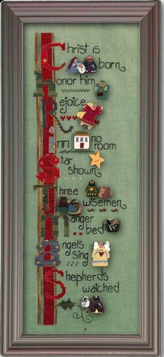 Christmas Tidings ATH1010 button pack + Art To Heart cross stitch chart JAB   41.40 Cross Stitch 42f724af3