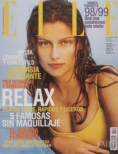 Covers of Elle Spain with Laetitia Casta, Aug 1998