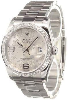 Rolex 'Datejust Flower' analog watch