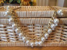 Collana catena con perle