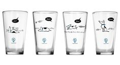 Set of four pint glasses for dog lovers feature a lovable pooch doing the exact opposite of the commands being barked: Sit! Dog Lover Gifts, Dog Gifts, Dog Lovers, Holiday Gift Guide, Holiday Gifts, Timber House, Dog Training Tips, I Love Dogs, Pint Glass