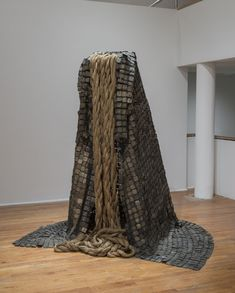 "Barbara Chase-Riboud, ""Le Manteau (The Cape),"" cronze, hemp rope, copper. Museums Celebrate The Black Women Artists History Has Overlooked Institute Of Contemporary Art, Contemporary Sculpture, Carnegie Museum Of Art, Art Museum, Black Female Artists, Felt Tip Markers, African History, African American History, Installation Art"