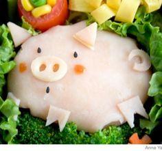 Parenting - Recipes - How to Make a Piggy Bento Lunch Box
