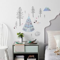 Wall Decal Sleeping Fox Reusable and removable by LoveMaeStore, $75.00