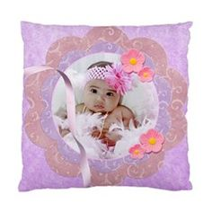 pink  by Ivelyn - Cushion Case (Two Sides) different design on each side Insert your own photos