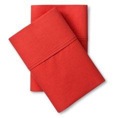 Ultra Soft Pillowcase Set (King) Red Orange 300 Thread Count - Threshold